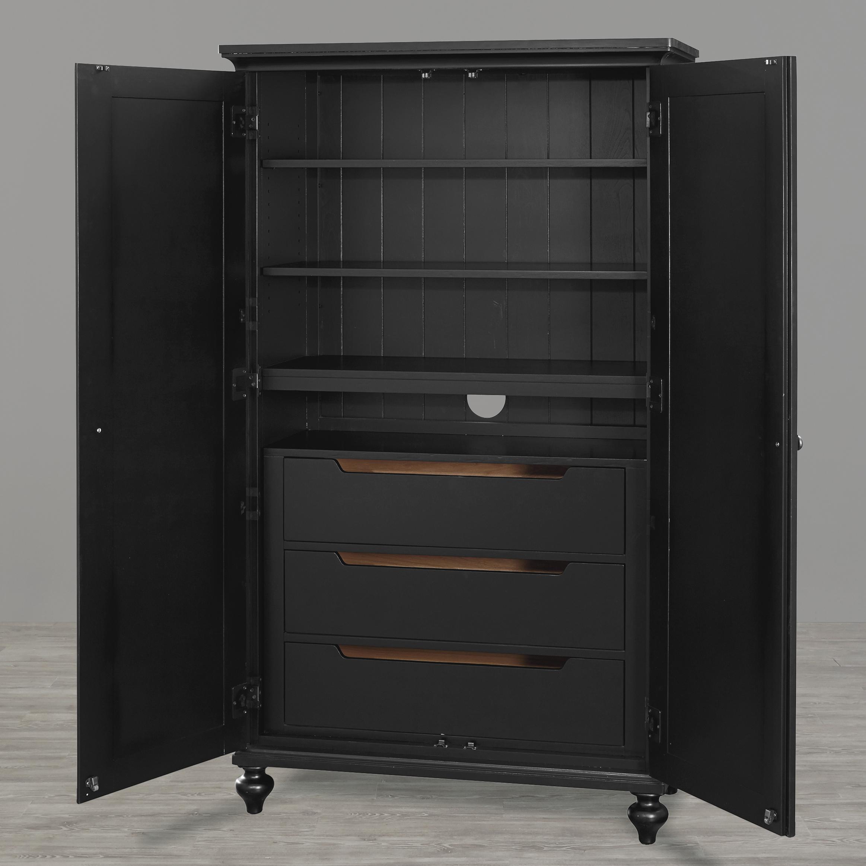 Smartstuff Black and White Wardrobe - Item Number: 437B011