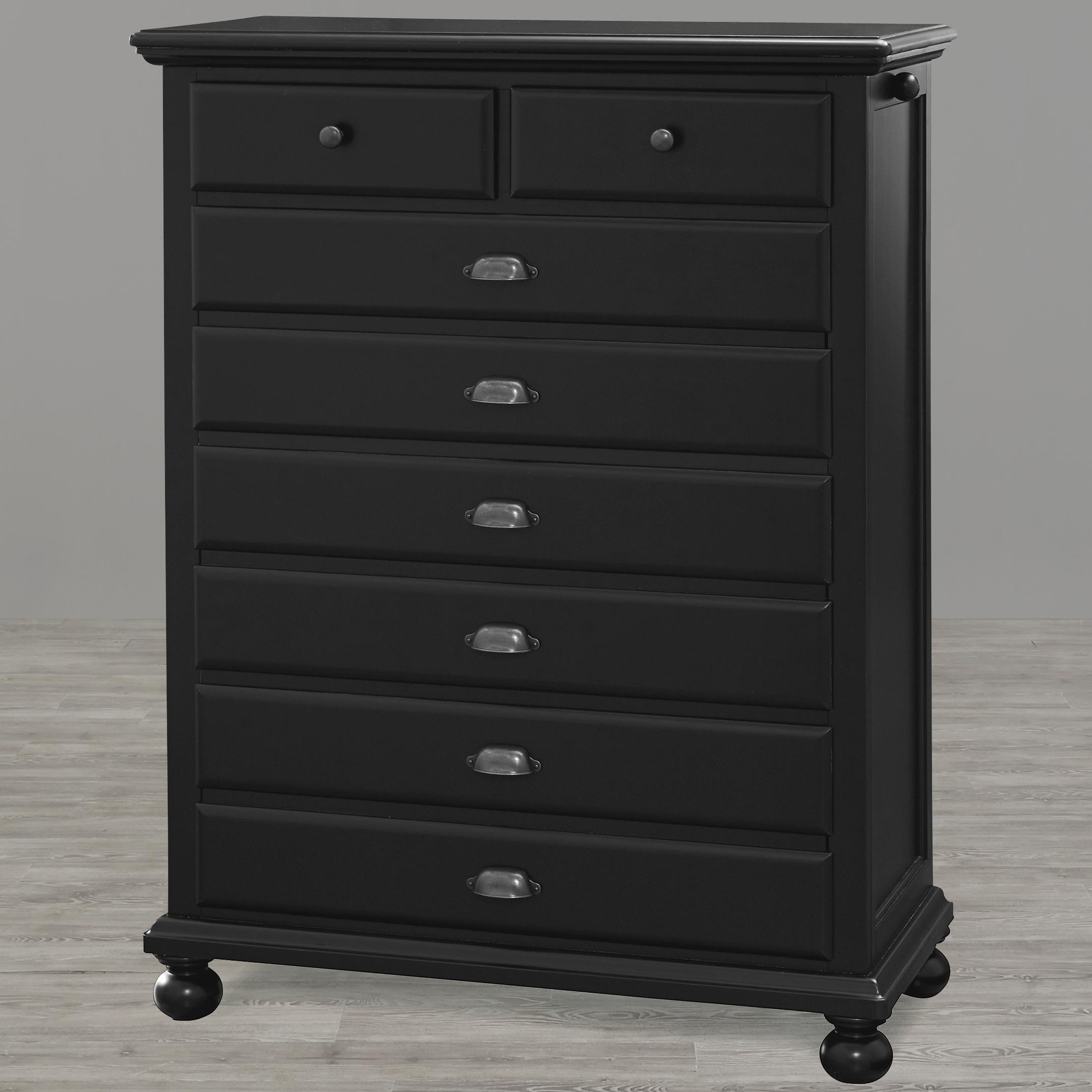 Smartstuff Black and White Drawer Chest - Item Number: 437B012
