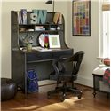 Smartstuff Black and White Metal Desk with 2 Shelves and 2 Drawers