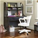 Universal Kids Smartstuff Black and White Metal Desk with 2 Shelves and 2 Drawers