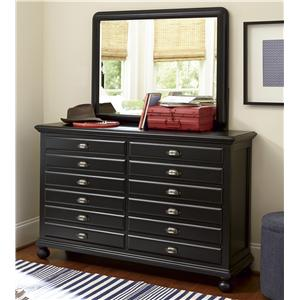 Smartstuff Black and White Dresser and Mirror Comho