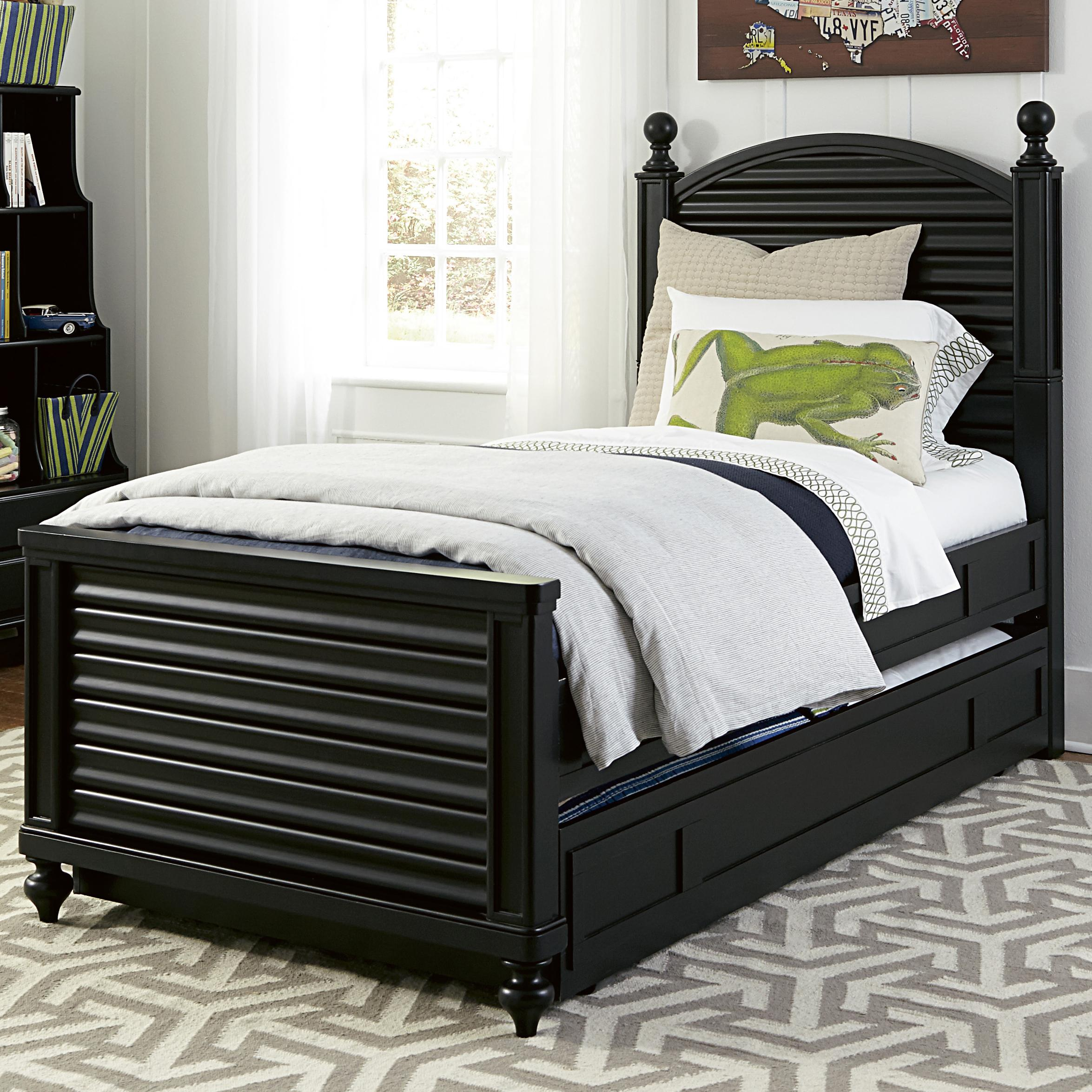 Smartstuff Black and White Full Reading Bed with Trundle - Item Number: 437B043+060