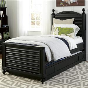 Smartstuff Black and White Full Reading Bed with Trundle