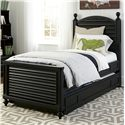 Smartstuff Black and White Twin Bed - Item Number: 437B038+060