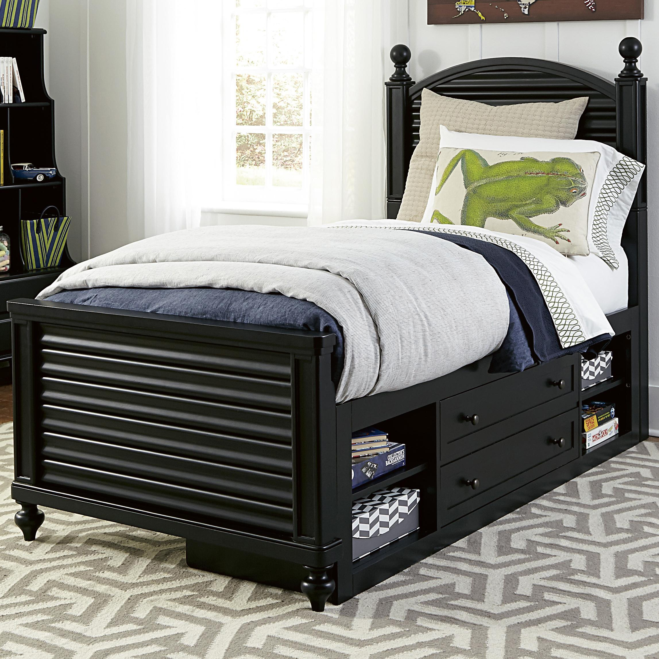 Smartstuff Black and White Twin Bed - Item Number: 437B038+061