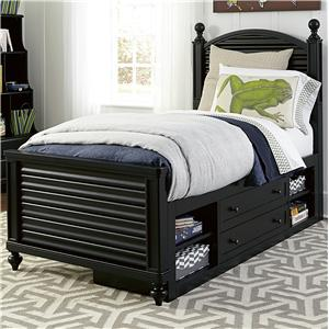 Smartstuff Black and White Full Reading Bed with Storage Unit