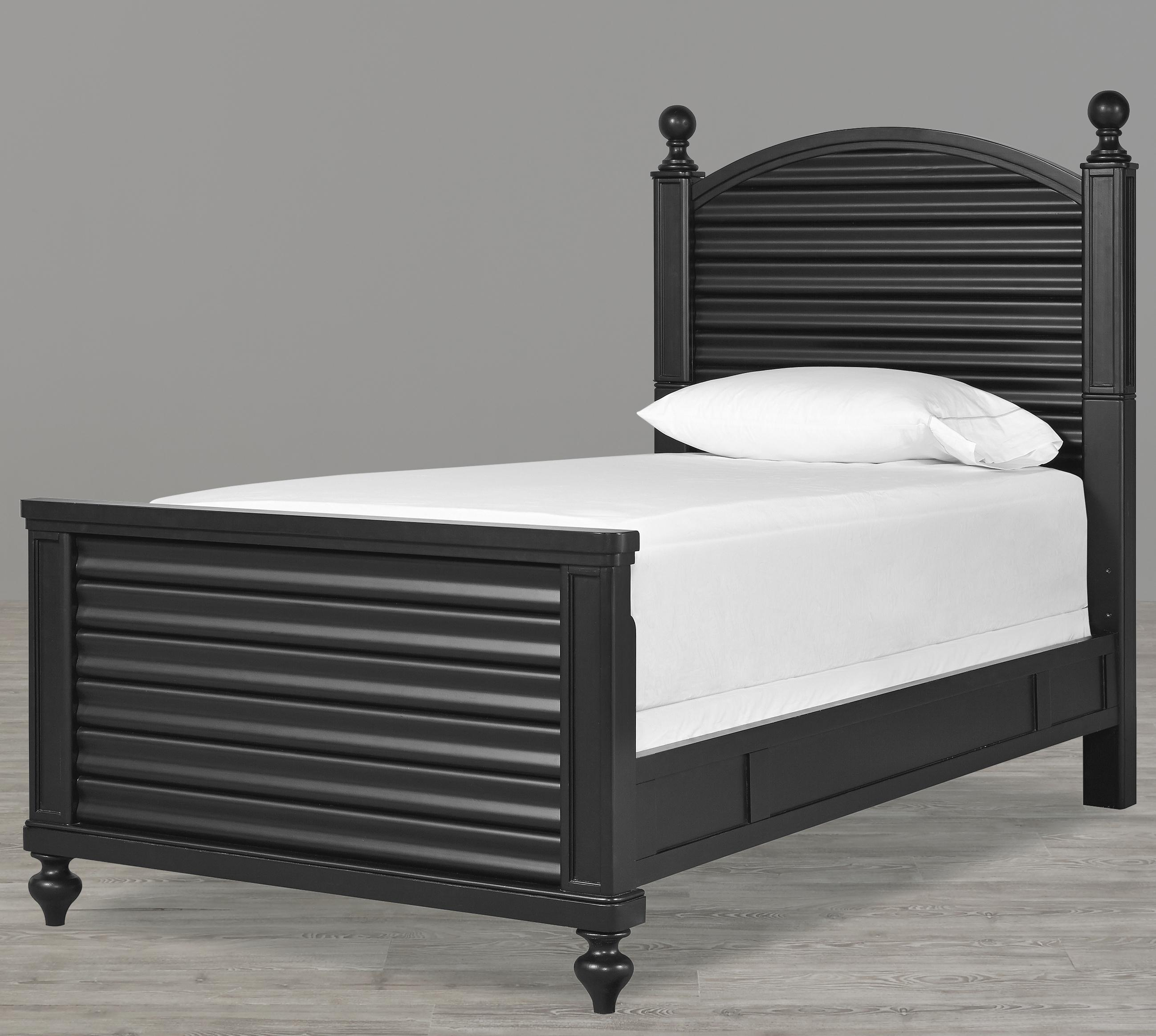 Smartstuff Black and White Twin Bed - Item Number: 437B038