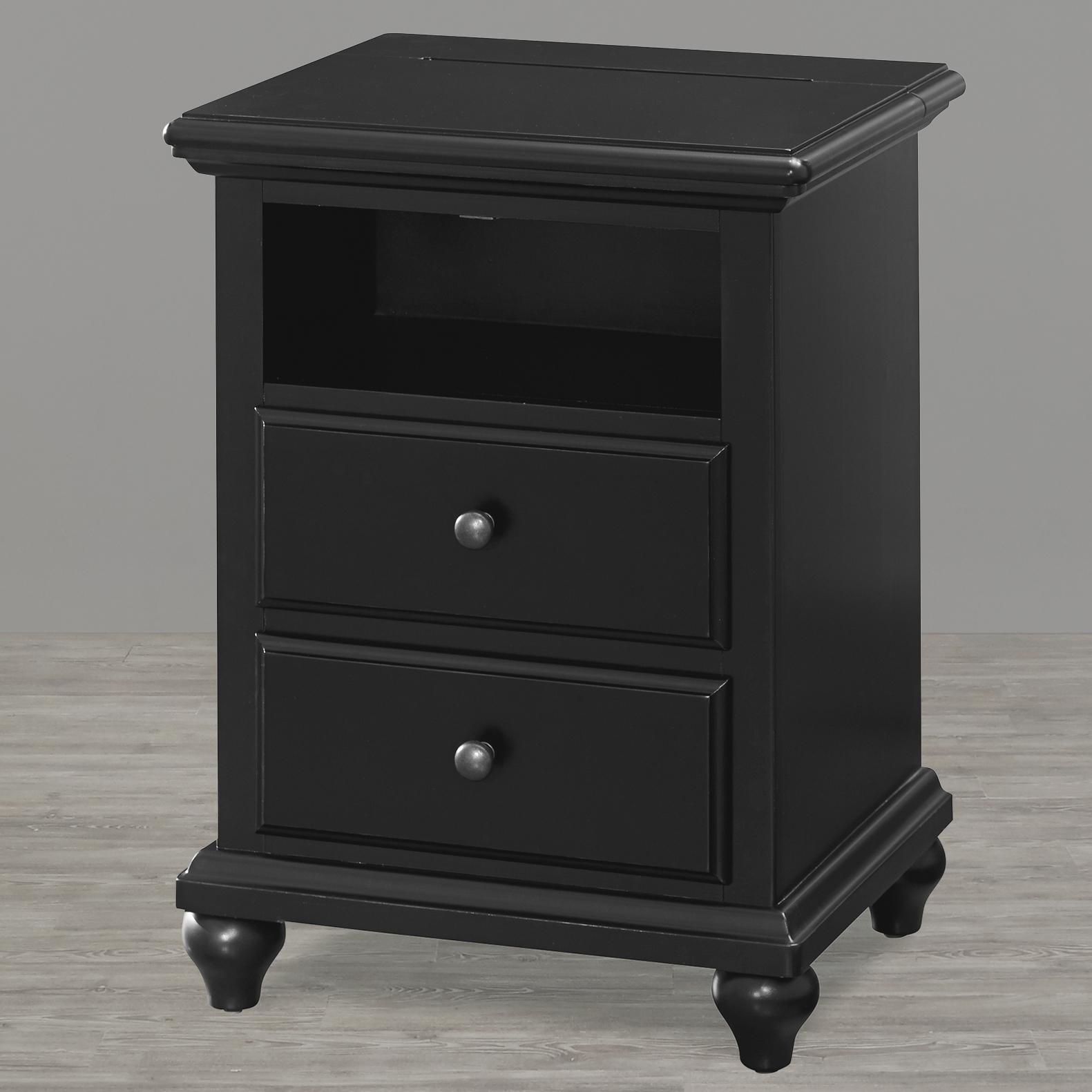 Smartstuff Black and White Night Stand - Item Number: 437B080