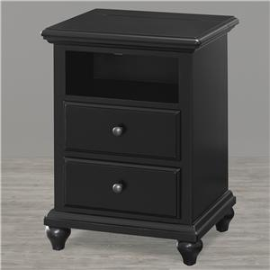Smartstuff Black and White Night Stand