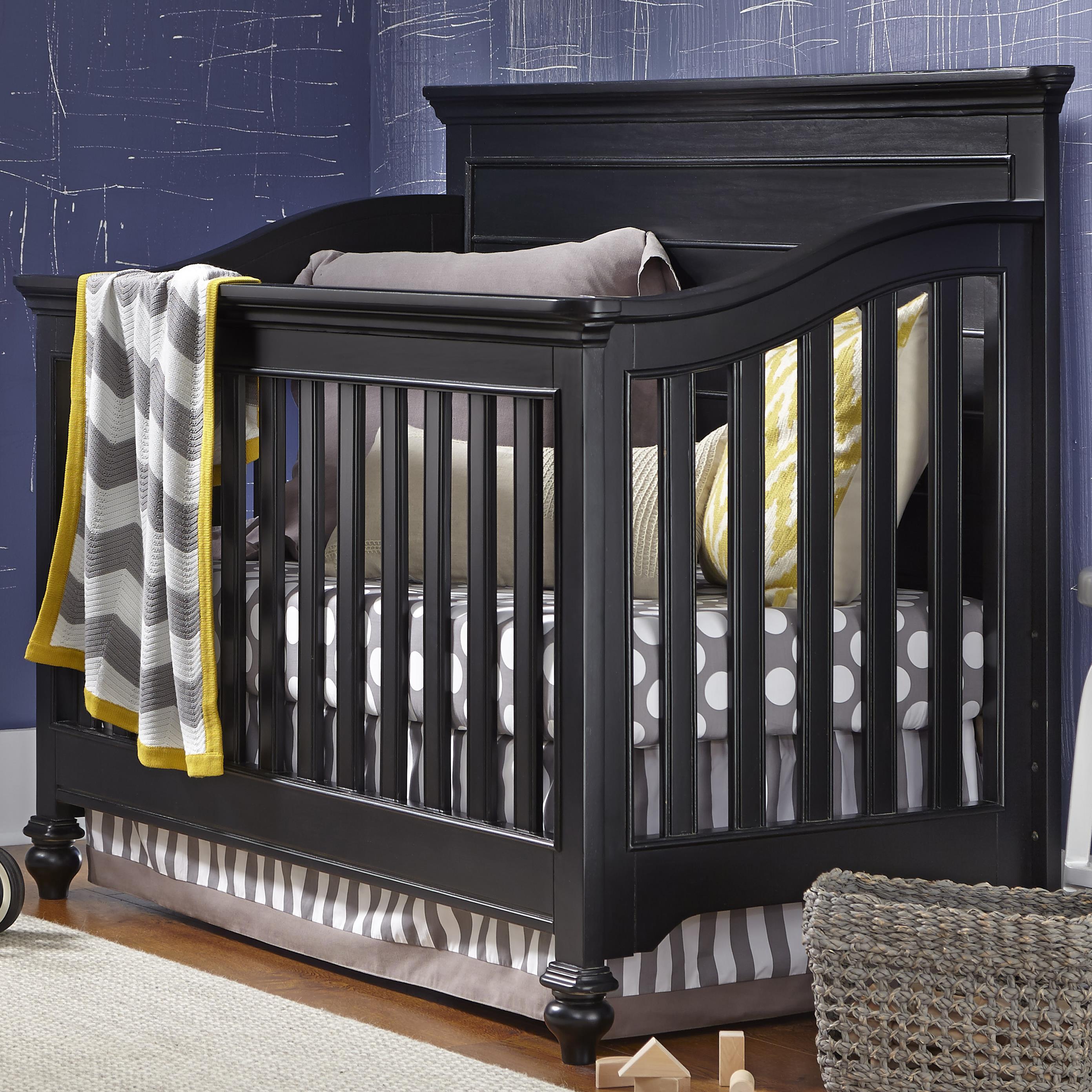 Smartstuff Black and White Convertible Crib - Item Number: 437B310