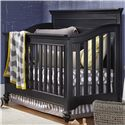 Smartstuff Black and White Convertible Crib - Item Number: 437B310