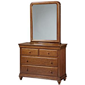 Morris Home Furnishings Sherwood Single Dresser & Storage Mirror