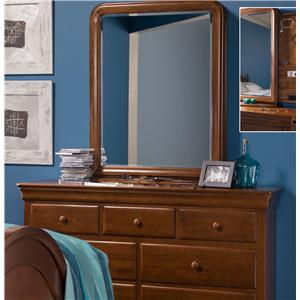 Morris Home Furnishings Sherwood Drawer Dresser & Storage Mirror