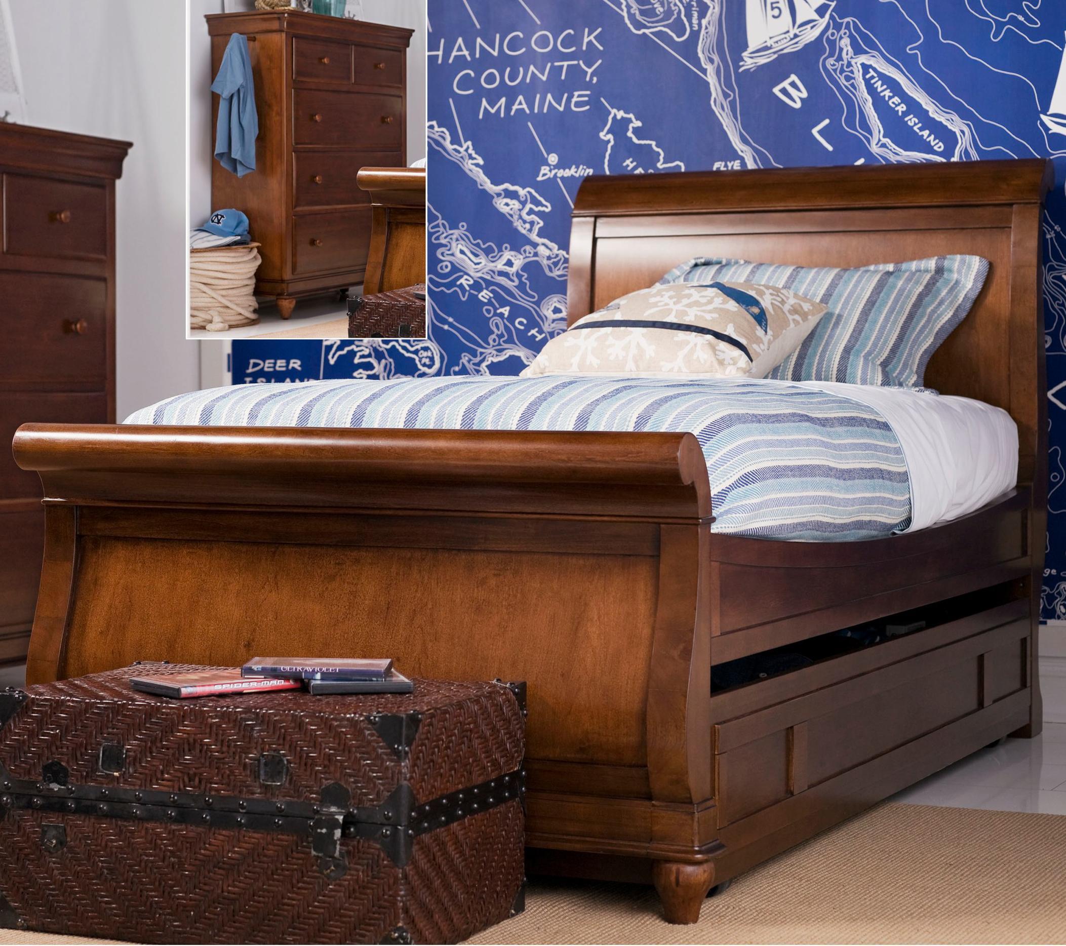 Smartstuff Classics 4.0 Full Trundle Sleigh Bed - Item Number: 1311041+060