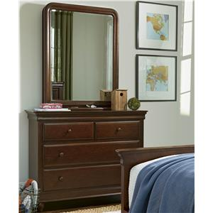 Morris Home Furnishings Classics 4.0 Single Dresser & Storage Mirror