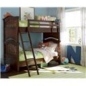 Smartstuff Classics 4.0 Twin Over Twin Bunk Bed with Guard Rail & Clock Shelf