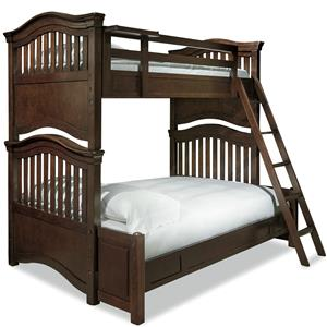 Universal Kids Smartstuff Classics 4.0 Twin Over Full Bunk Bed