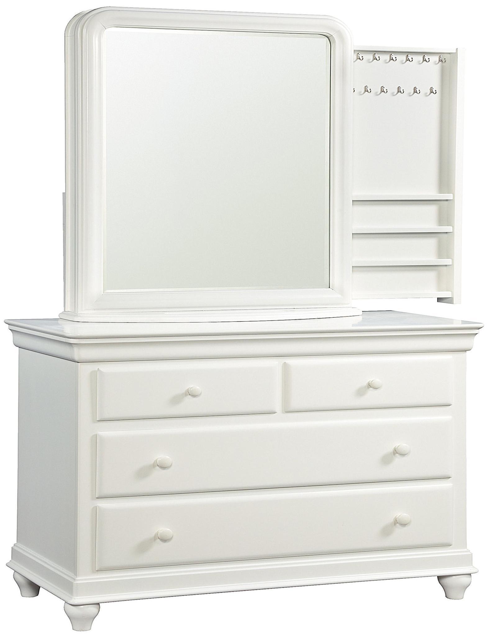 Smartstuff Classics 4.0 Single Dresser & Storage Mirror - Item Number: 131A001+030