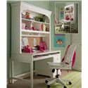 Smartstuff Classics 4.0 3-Drawer Single Pedestal Desk & Hutch with Corkboard Back   - Shown with Swivel Desk Chair
