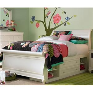 Morris Home Furnishings Sherwood Twin Storage Sleigh Bed