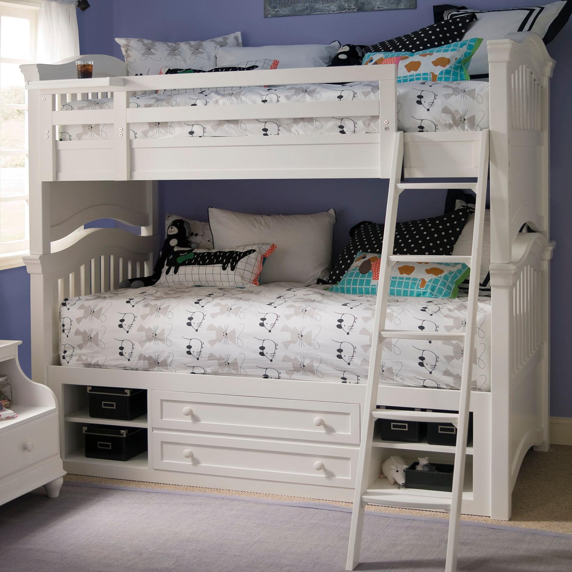 Smartstuff Classics 4.0 Twin Storage Bunk Bed - Item Number: 131A530+061