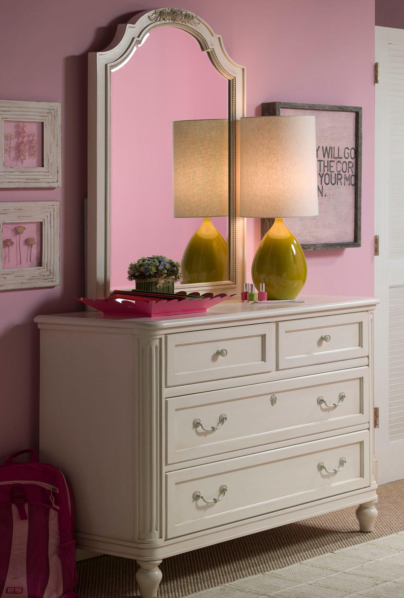 Smartstuff Gabriella Single Dresser & Vertical Mirror - Item Number: 136A001+030