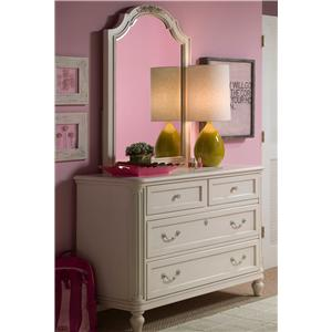Morris Home Furnishings Greenville Single Dresser & Vertical Mirror