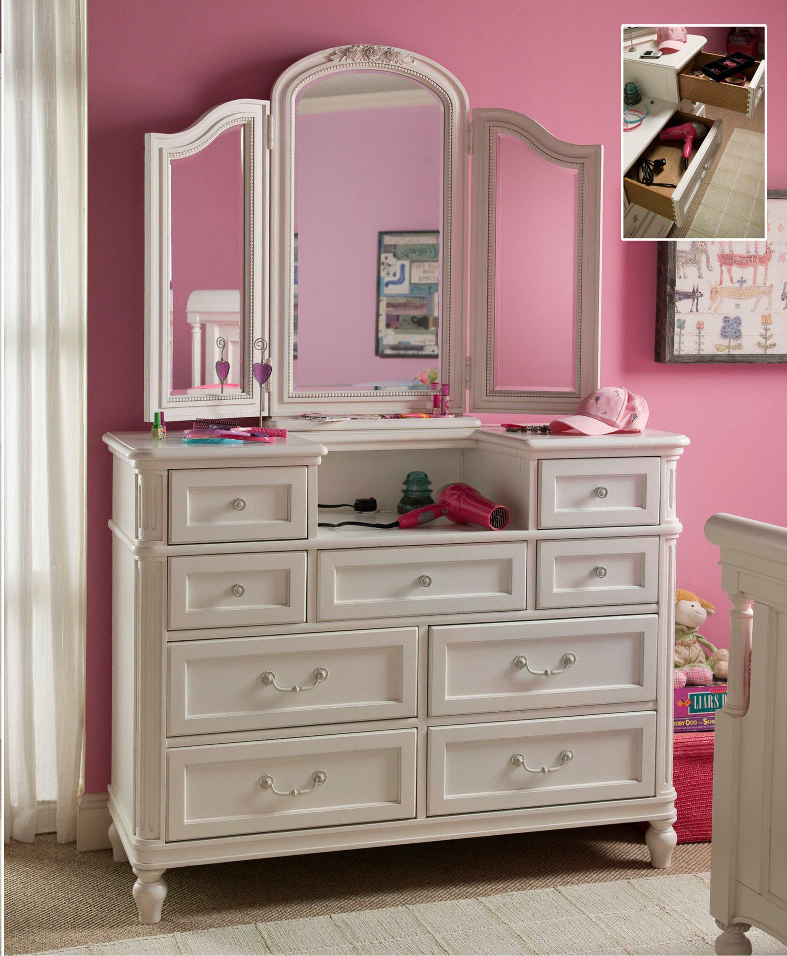 Universal Kids Smartstuff Gabriella Dressing Chest & Mirror - Item Number: 136A004+031