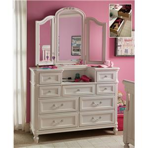 Morris Home Furnishings Greenville Dressing Chest & Mirror