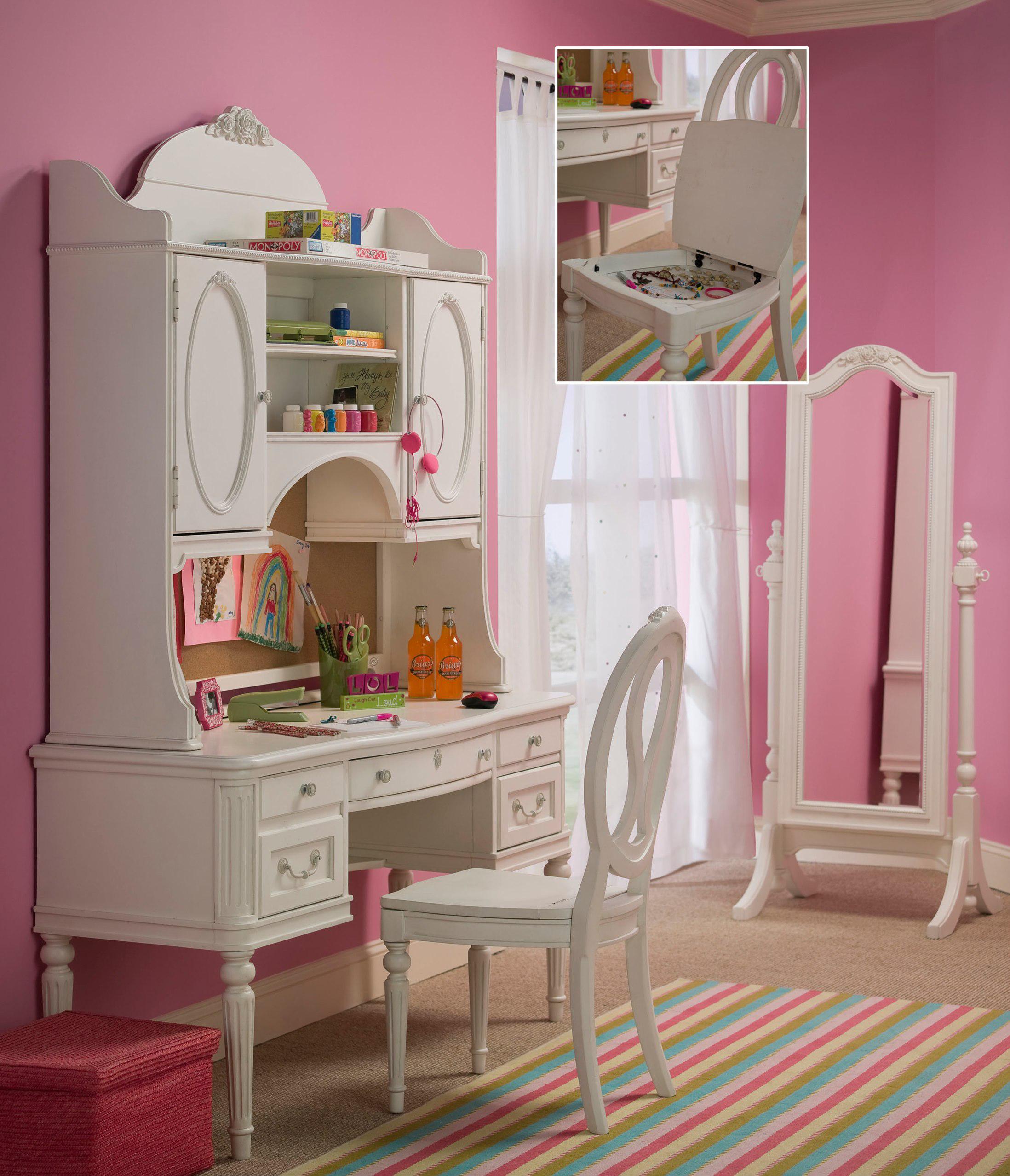 Smartstuff Gabriella Vanity Desk & Hutch - Item Number: 136A027+020