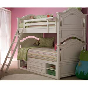 Smartstuff Gabriella Twin-Over-Twin Bunk Bed with Underbed Storage Unit