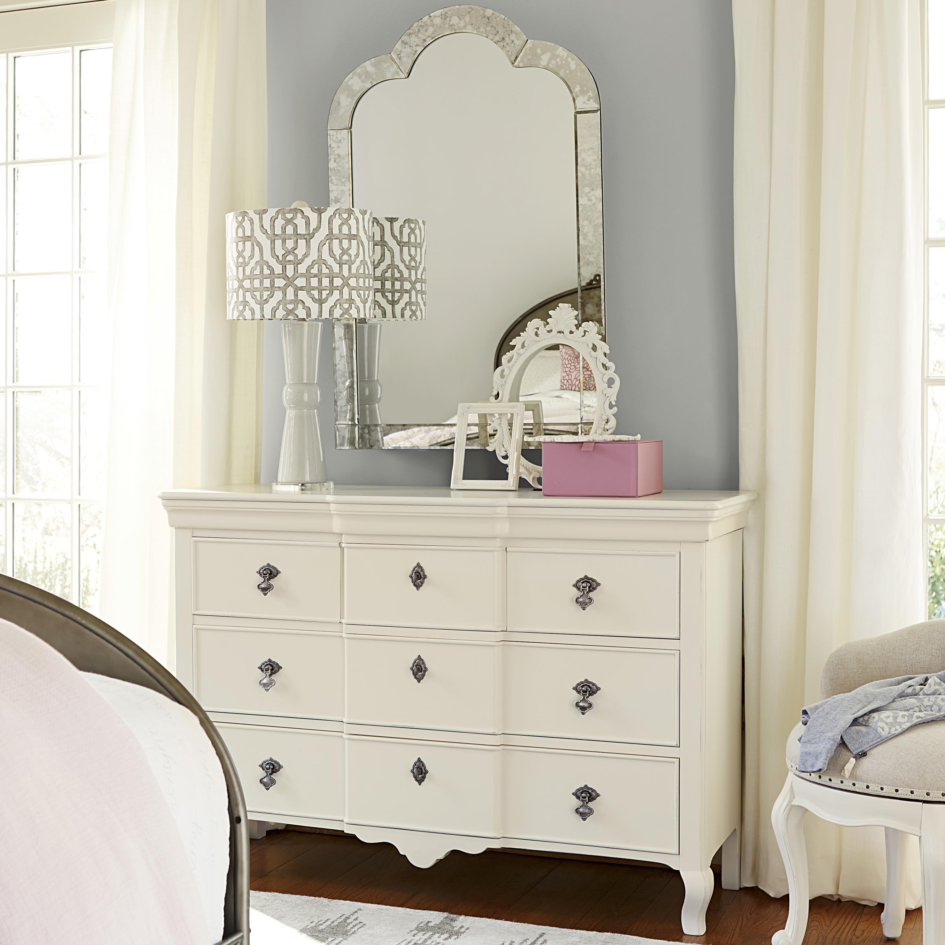 Smartstuff Genevieve Dresser and Venetian Mirror - Item Number: 434A002+30