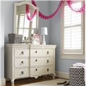 Smartstuff Genevieve Dresser and Vertical Mirror - Item Number: 434A002+31