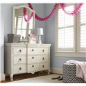 Smartstuff Genevieve 5-Drawer Dresser with Drop-Front Drawer