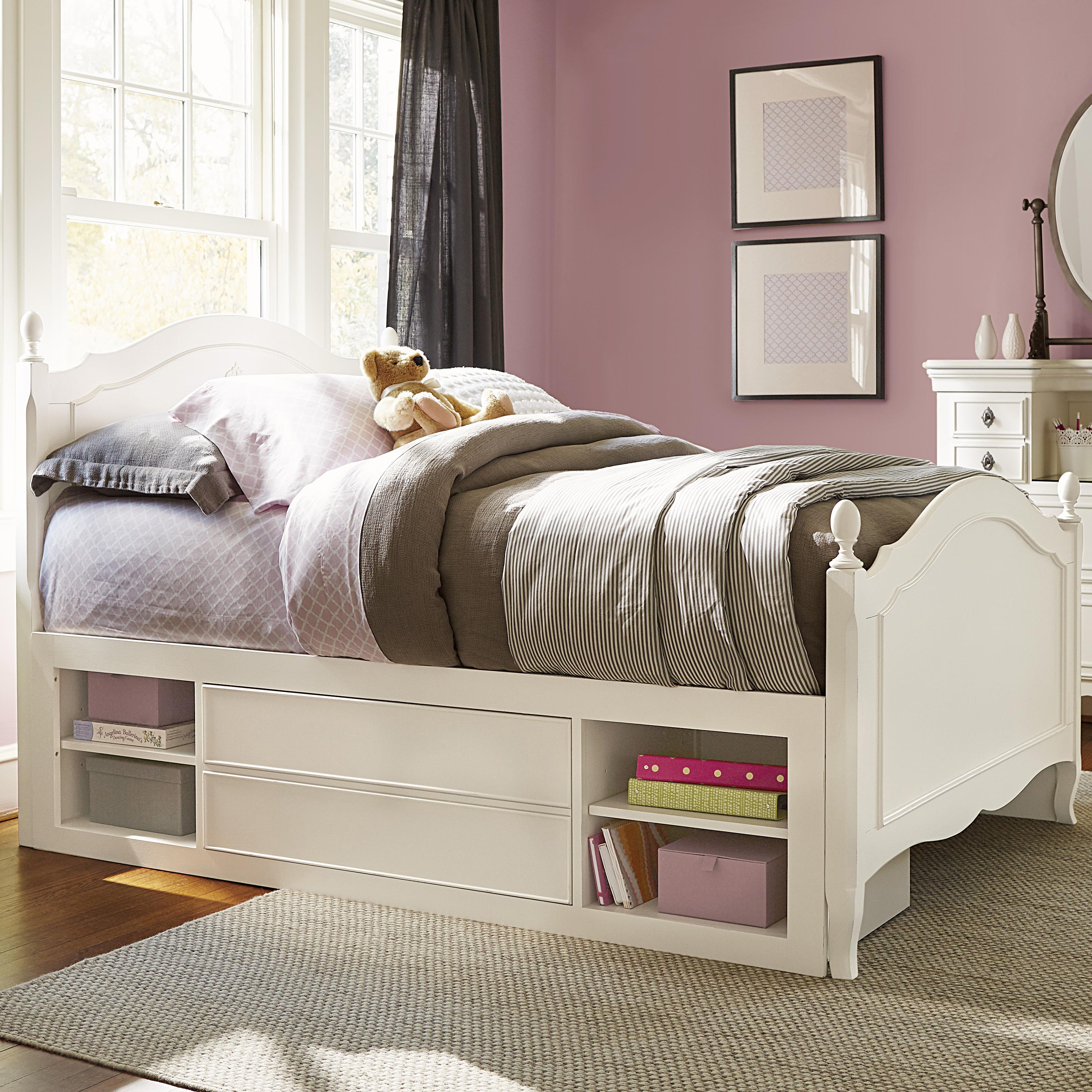 Smartstuff Genevieve Full Reading Bed with Underbed Storage - Item Number: 434A043+61