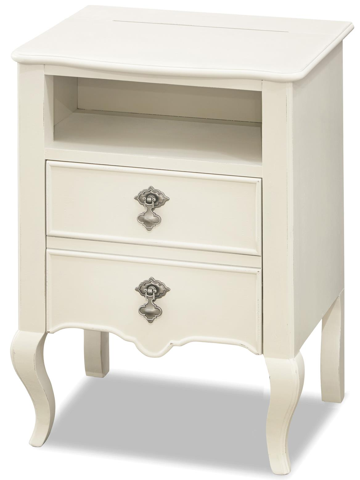 Smartstuff By Universal Genevieve Nightstand With Power Outlet Fashion Furniture Night Stands