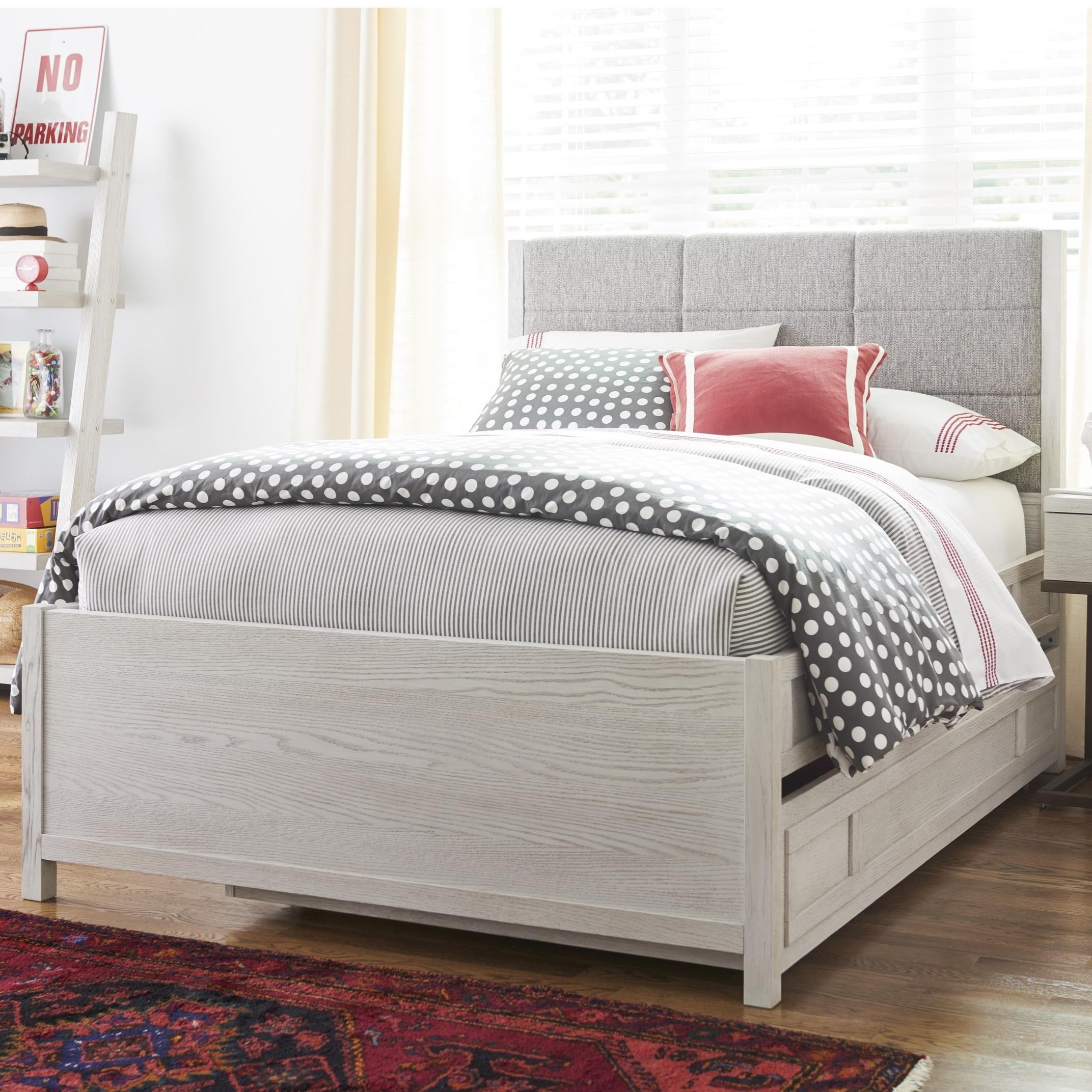 Twin Complete Upholstered Bed w/ Trundle