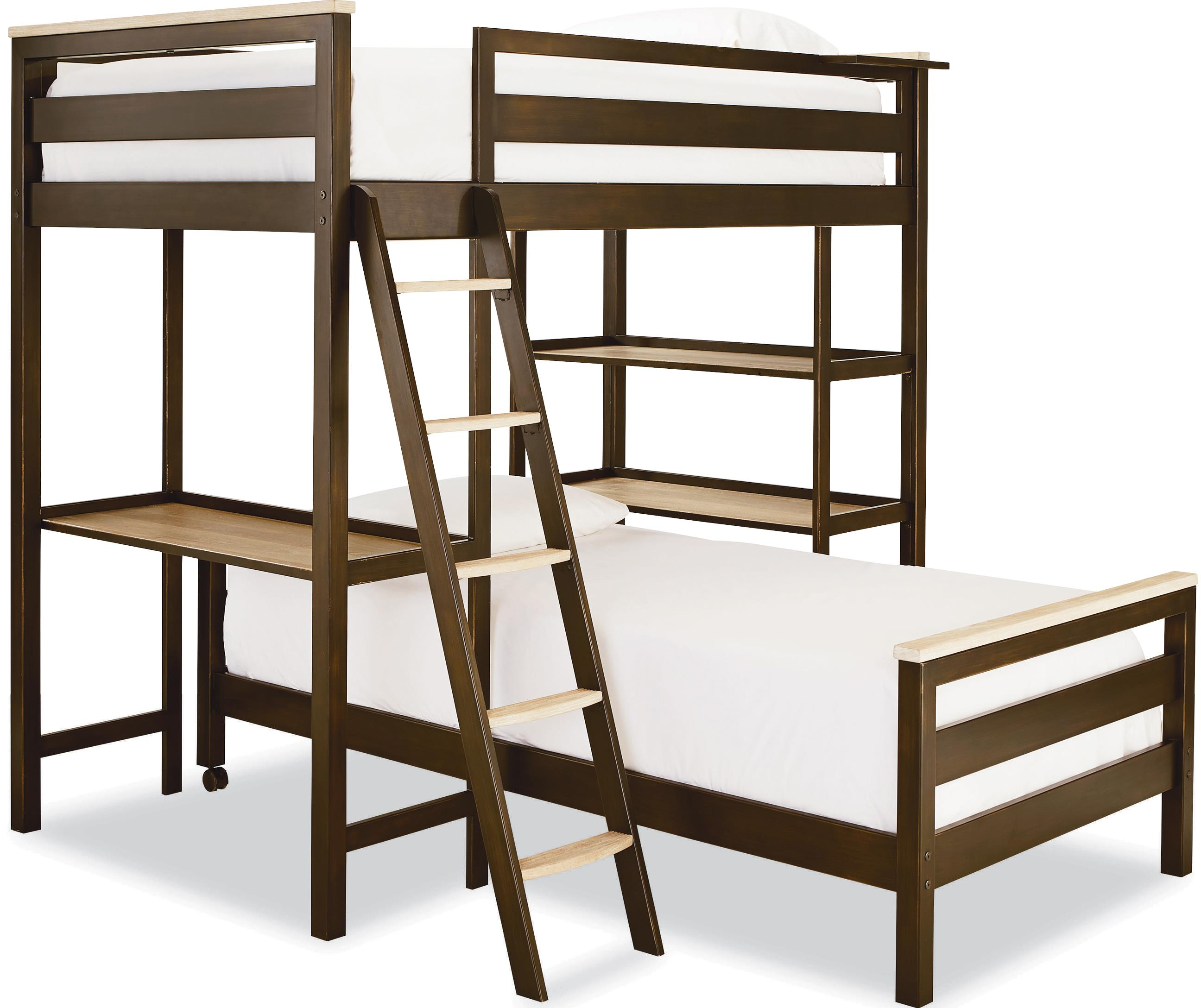 Smartstuff #myRoom Twin Metal Loft Bunk Bed - Item Number: 5321630