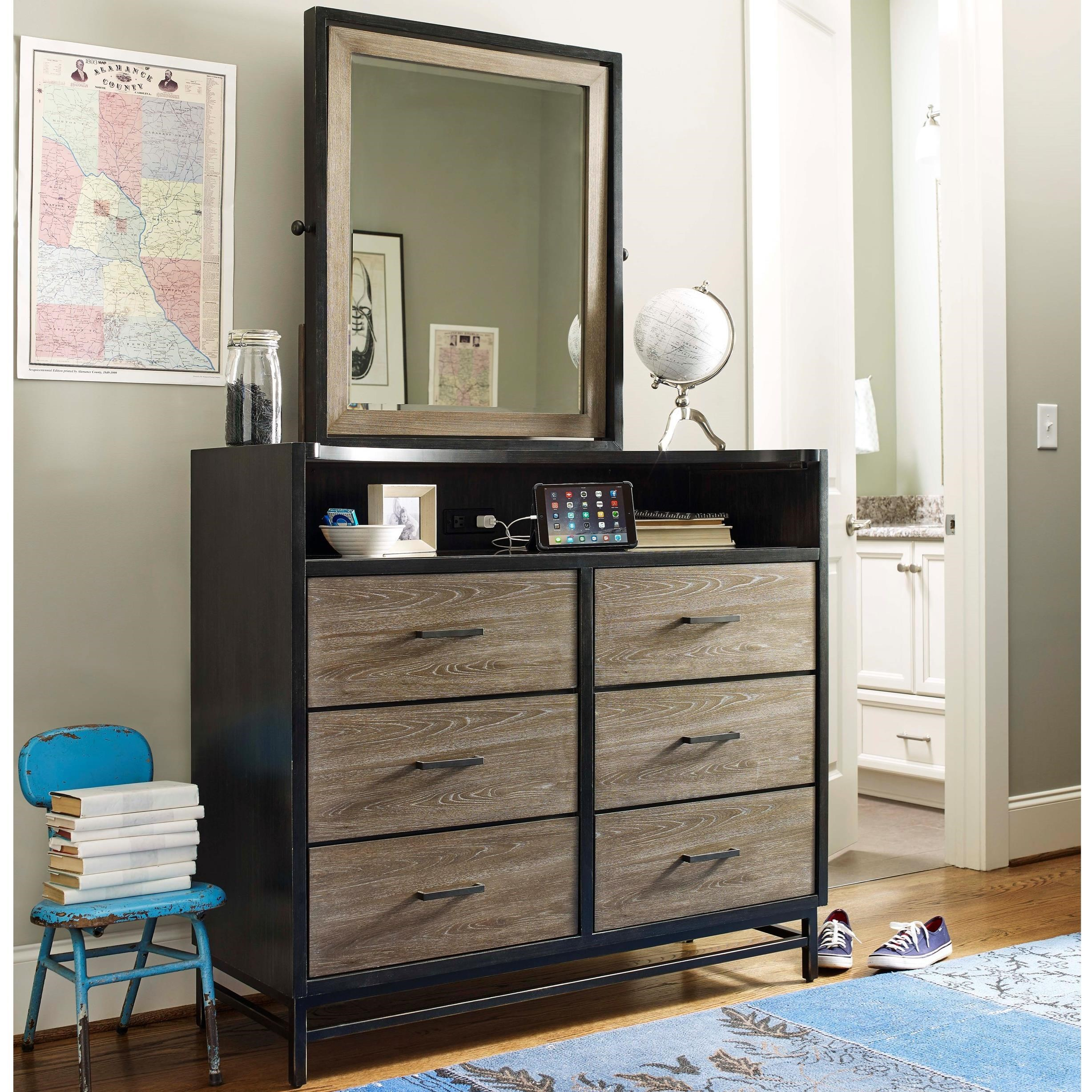 Smartstuff #myRoom Dressing Chest and Mirror Set - Item Number: 5322004+33