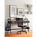 Morris Home Furnishings Torrance Desk with Metal Frame and 2 Drawers
