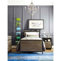 Smartstuff #myRoom Twin Panel Bed with Block Feet