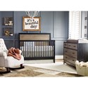 Morris Home Furnishings Torrance Two Tone Convertible Crib