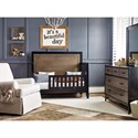 Morris Home Furnishings Torrance Two Tone Convertible Crib - Crib Converts to Toddler Bed with Additional Component Purchase