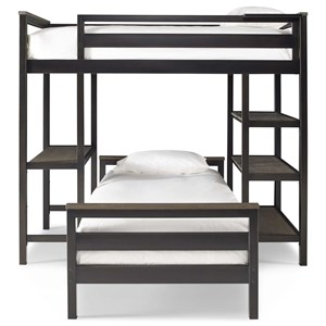 Morris Home Torrance Twin Metal Loft Bunk Bed