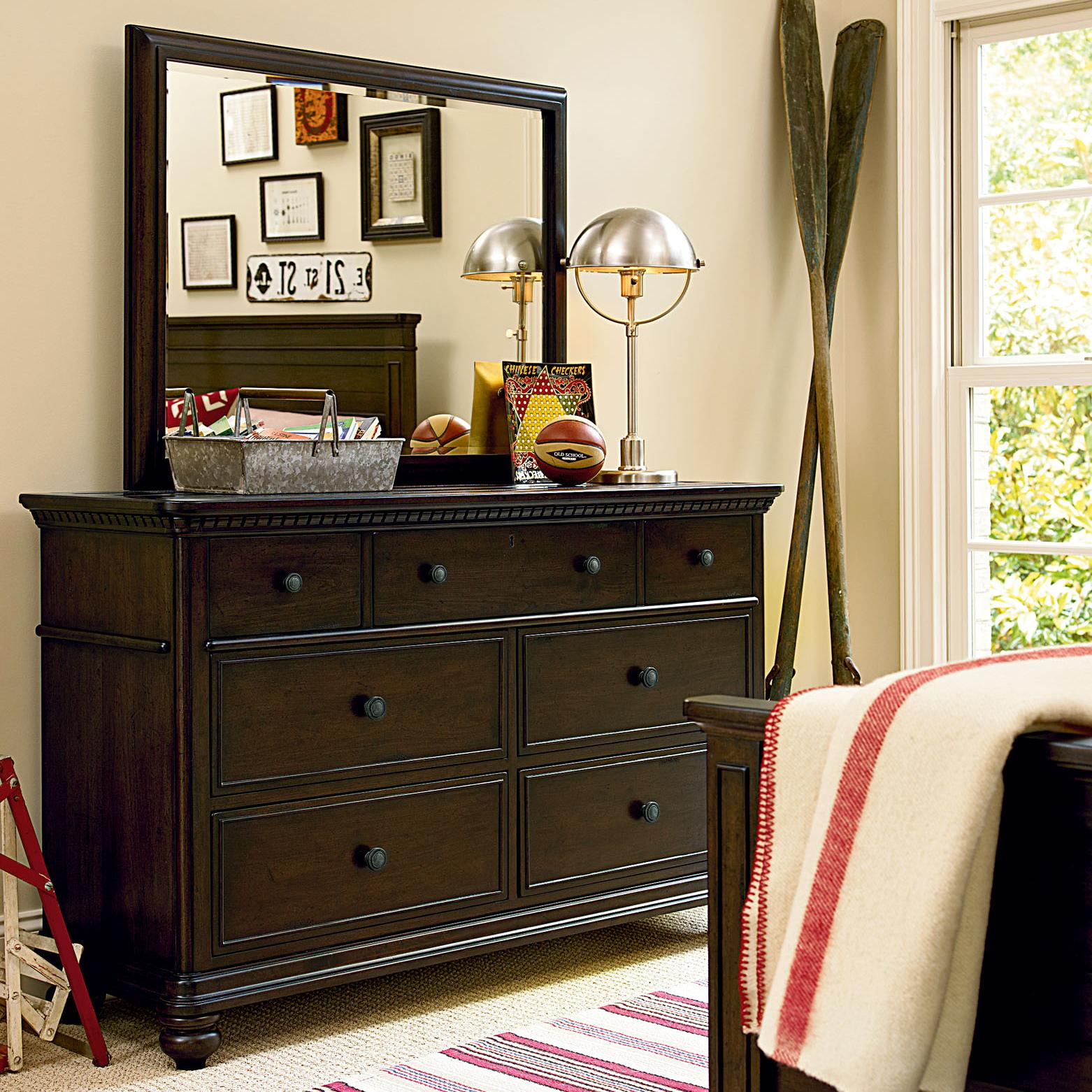 paula deen bedroom furniture smartstuff paula deen guys 7 drawer dresser amp vertical 16631