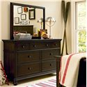 Morris Home Furnishings Pine Valley Dresser & Mirror - Item Number: 2391002+032