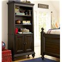 Morris Home Furnishings Pine Valley Books & Stuff Bookcase with Bun Feet - Shown with Guy\'s Reading Bed
