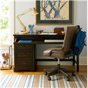 Morris Home Furnishings Pine Valley Henry's Single Pedestal Desk - Shown with Henry\'s Desk Chair