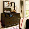 Smartstuff Paula Deen - Guys Vertical Rectangular Mirror - Shown with Drawer Dresser
