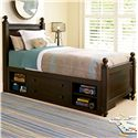 Smartstuff Paula Deen - Guys Twin Guy's Reading Low Post Bed with Underbed Storage Unit